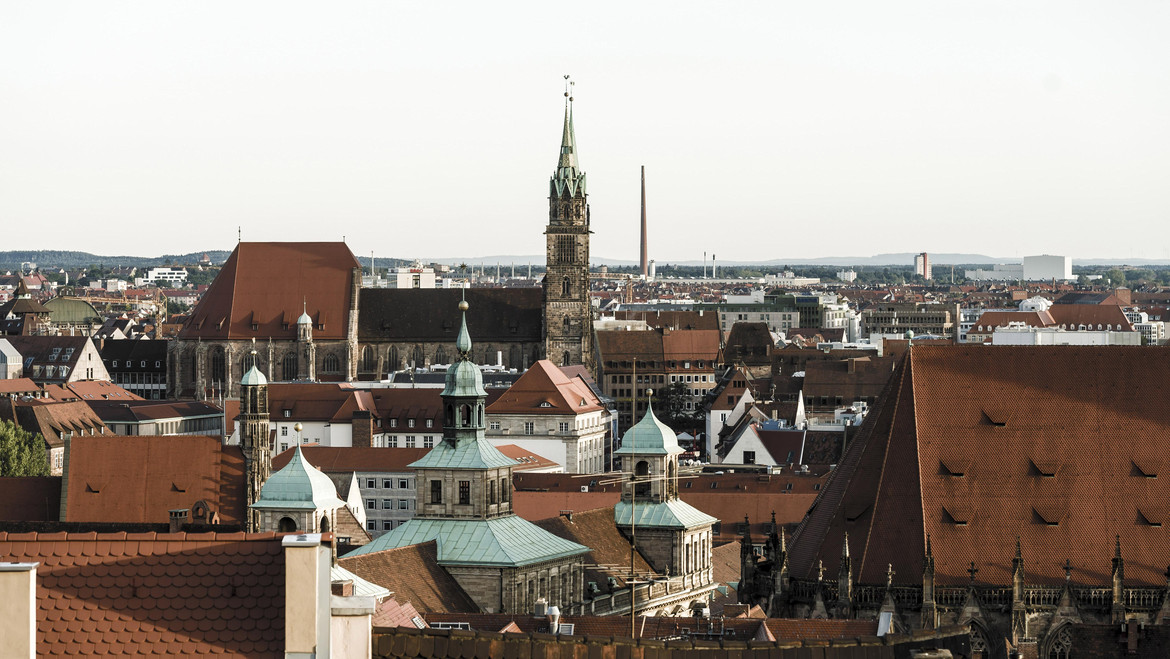 Panorama of the Old Town of Nuremberg