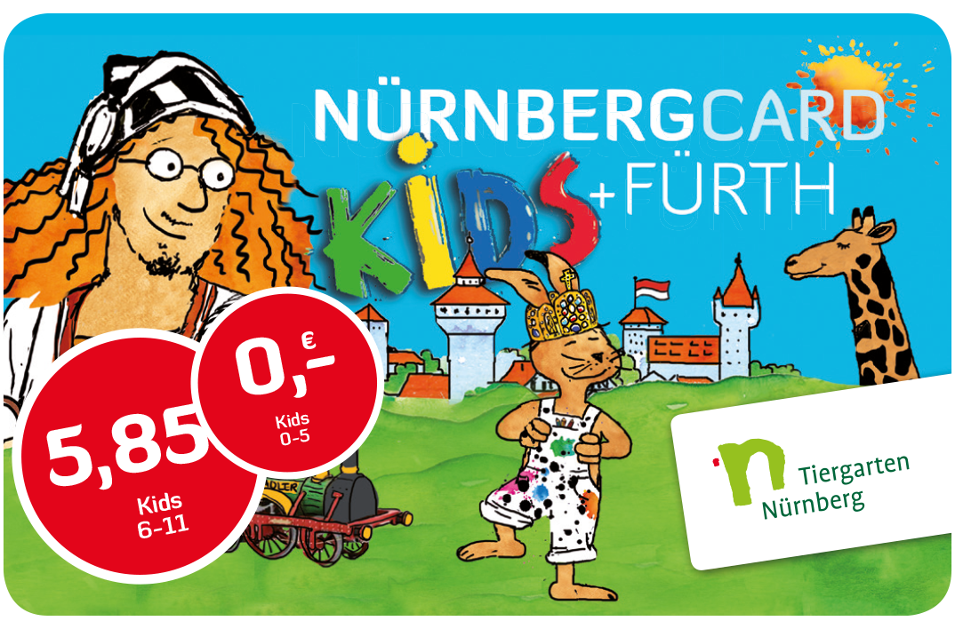 NUREMBERG CARD for kids (view of the card)